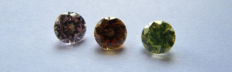 colorful zircons
