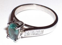 engagement ring channel set