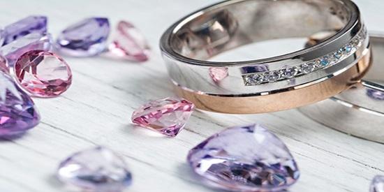 fake diamonds rose gold ring
