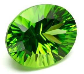 oval cut brilliant peridot