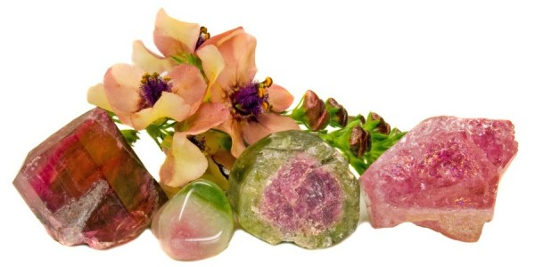 tourmaline with matching flowers