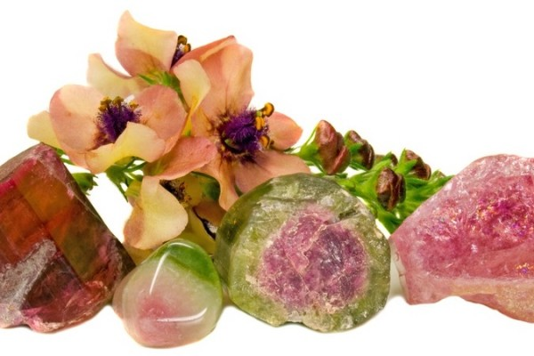 tourmaline with matching flowers